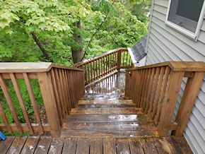 deck in need of cleaning