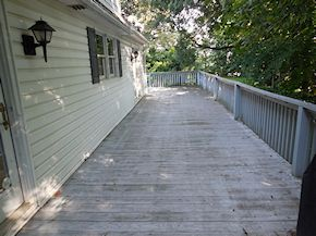 Maryland deck in need of cleaning