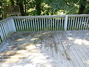Maryland porch in need of cleaning