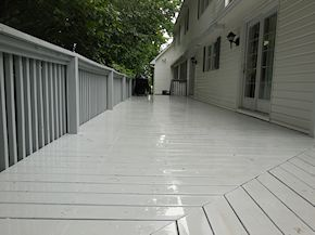 after cleaning the painted deck