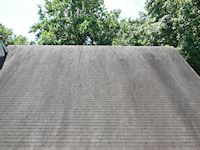 Easton roof before the roof cleaning