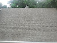 after the Easton roof cleaning